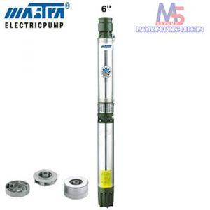 Máy Bơm Hỏa Tiễn 6 Inch Cánh Nhựa Đầu Gang R - 150 - ES - 06 1